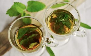 Two glasses of mint tea are on the table during individual therapy with a parent of a gifted child in Arcadia, CA.
